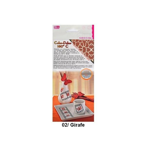 Color Dekor, 2 Feuilles décalcomanie Imprimé Animal au choix, 10 x 20 cm, pour décoration de porcela - Photo n°1