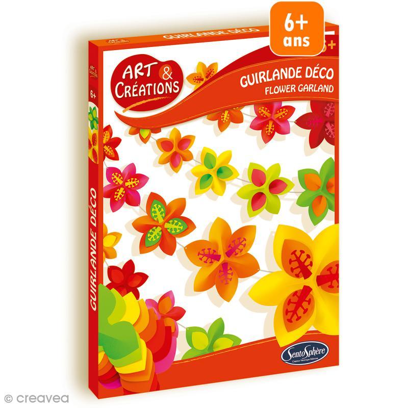 Jeu Art & Créations - Kit Guirlande déco - Fleurs - Photo n°1