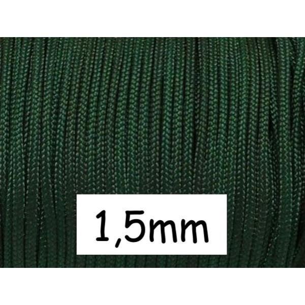 10m Fil De Jade 1,5mm Vert Foncé - Idéal Bracelet Wrap - Photo n°1