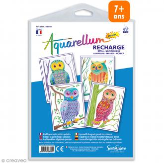 Recharge Aquarellum Junior Hiboux - 4 dessins