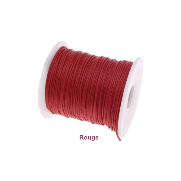 Cordelette en coton ciré, coloris au choix, Ø 0.5 mm, 9 mètres sur bobine - Photo n°1