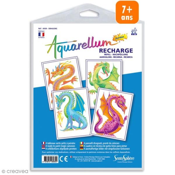 Recharge Aquarellum Junior Dragons - 4 dessins - Photo n°1