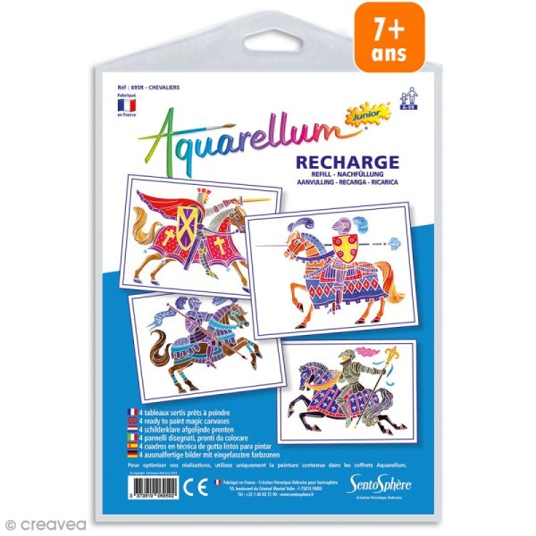 Recharge Aquarellum Junior Chevaliers - 4 dessins - Photo n°1