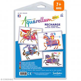 Recharge Aquarellum Junior Chevaliers - 4 dessins