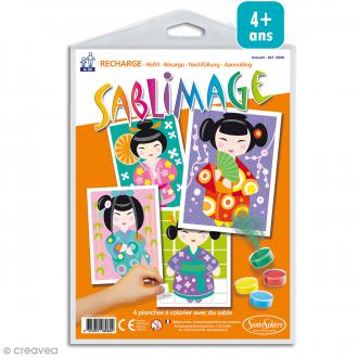 Recharge Sablimage Kokeshi - 4 dessins