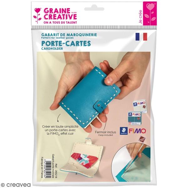 Gabarit pour Fimo effet Cuir - Porte-cartes - 4 pcs - Photo n°1