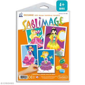 Recharge Sablimage Princesses - 4 dessins