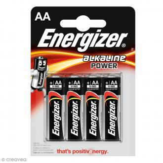 Piles Energizer Power AA - Lot de 4 piles