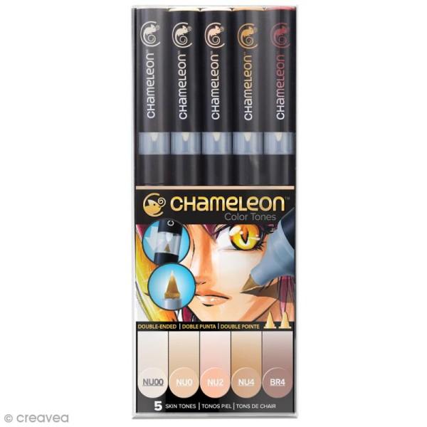 Coffret marqueurs Chameleon - Color tones - 5 feutres - Photo n°1