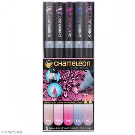 Coffret marqueurs Chameleon - Floral tones - 5 feutres - Chameleon