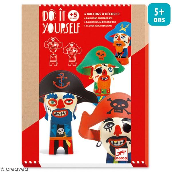 Kit Do It Yourself - Ballons à décorer Pirates - 21 pcs - Photo n°1