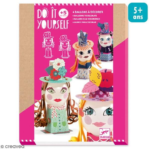 Kit Do It Yourself - Ballons à décorer Demoiselles - 30 pcs - Photo n°1