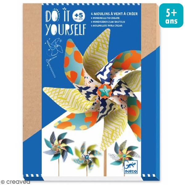 Kit Do It Yourself - 4 Moulins à vent - 17 pcs - Photo n°1