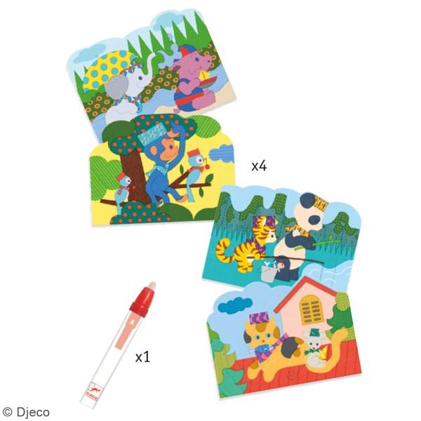 Coloriages magiques - Caché dehors - 5 pcs - Photo n°2