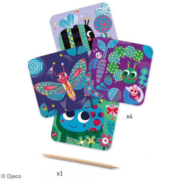 Cartes à gratter - Petites bêtes - 5 pcs - Photo n°2