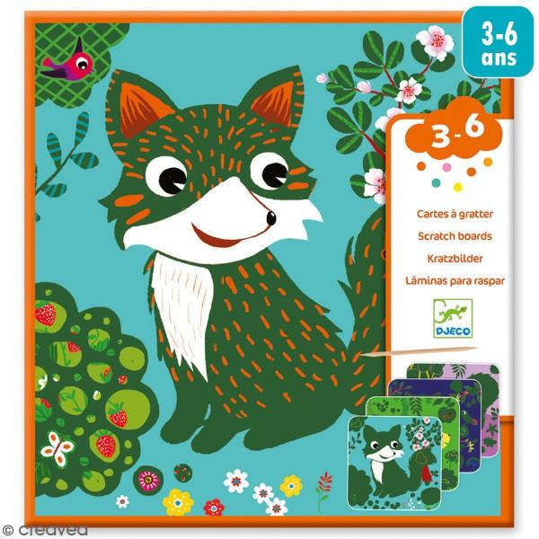 Cartes à gratter - Petits animaux - 5 pcs - Photo n°1