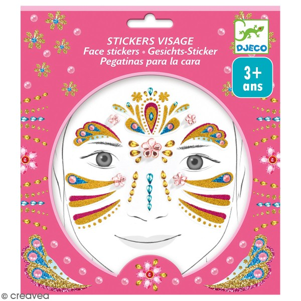 Stickers visage - Princesse or - Photo n°1