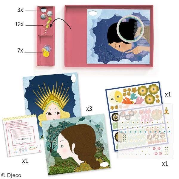 Kit créatif Djeco - Art & Technology - Tableaux lumineux Princesses - Photo n°2