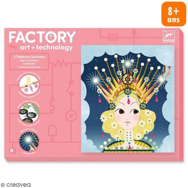 Kit créatif Djeco - Art & Technology - Tableaux lumineux Princesses - Photo n°1
