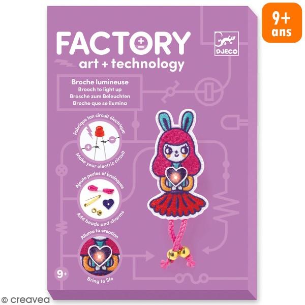 Kit créatif Djeco - Art & Technology - Broche lumineuse Bunny girl - Photo n°1