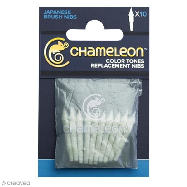 Pointes pinceaux de rechange pour marqueurs Chameleon - 10 pcs - Photo n°1