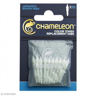 Pointes pinceaux de rechange pour marqueurs Chameleon - 10 pcs