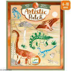 Kit Artistic Patch Djeco - Métallisé - Dinosaures
