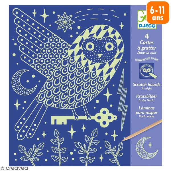 Cartes à gratter phosphorescente - Dans la nuit - 5 pcs - Photo n°1
