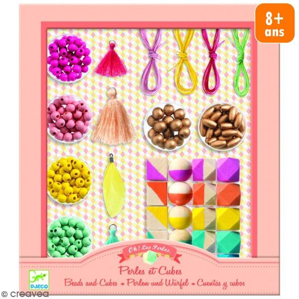 Kit Oh ! les perles - Perles et cubes - 34 pcs - Photo n°1