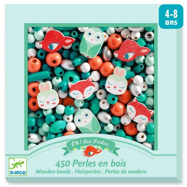 Kit de perles en bois - Petits animaux - 450 pcs - Photo n°1