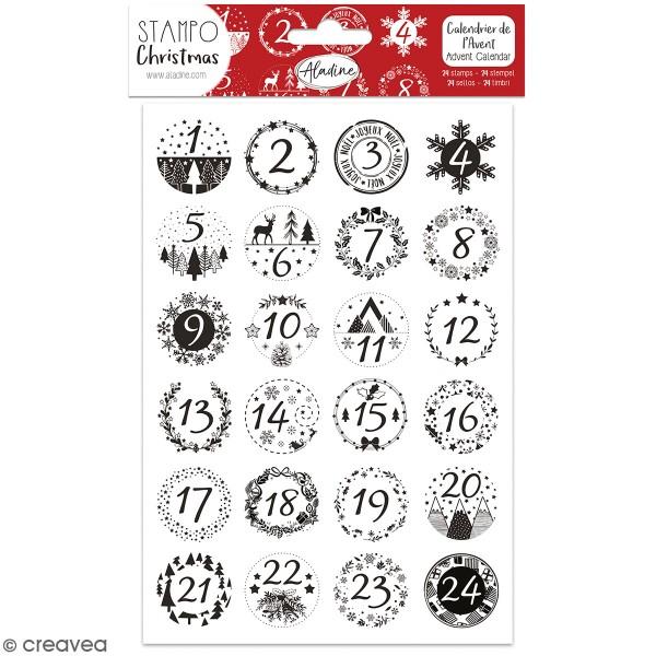 Kit de tampons Stampo Calendrier de l'avent - Classique - 24 pcs - Photo n°1