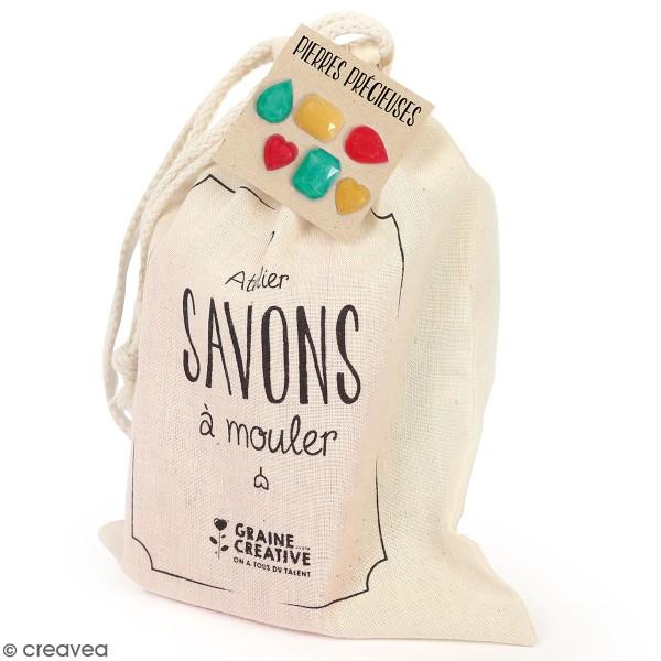 Pochette créative Mon atelier savon - Pierres précieuses - 6 pcs - Photo n°1