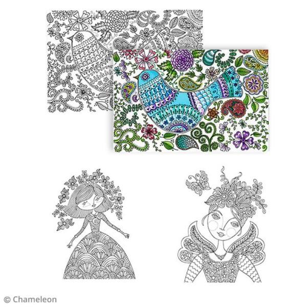 Livre de coloriage Chameleon - Loris Art Garden - 20 posters de 25 x 20 cm - Photo n°2