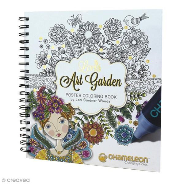 Livre de coloriage Chameleon - Loris Art Garden - 20 posters de 25 x 20 cm - Photo n°1