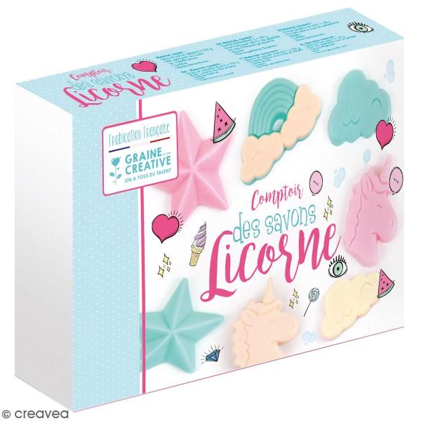 Kit créatif comptoir des savons - Licorne - 4 pcs - Photo n°1