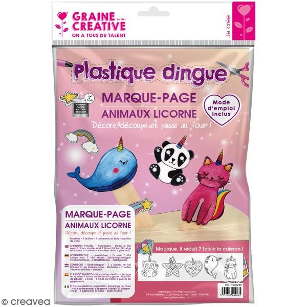 Kit Plastique dingue - Marque-pages - Animaux licorne - Photo n°1