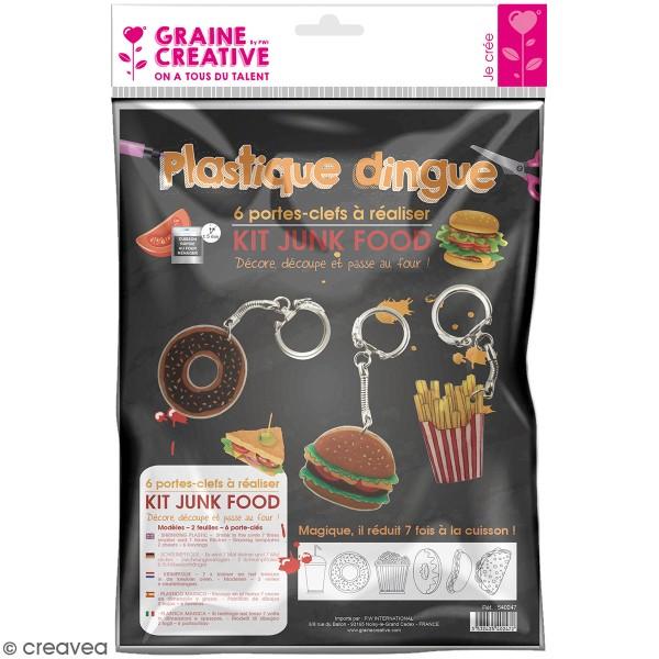 Kit Plastique dingue - Porte-clés - Junk food - Photo n°1