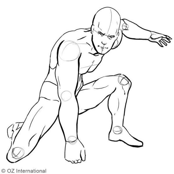 Kit Mannequin articulé pour dessin - Modèle homme - 14 cm - Photo n°4