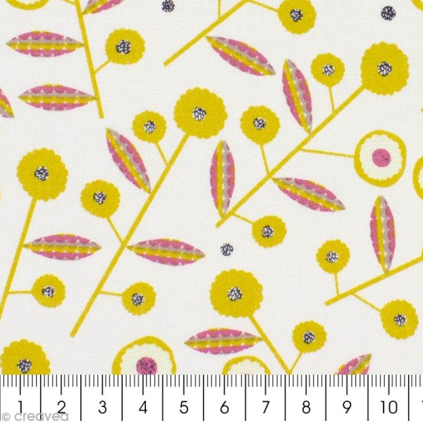 Tissu Bloom Ecru - Par 10 cm (sur mesure) - Photo n°2