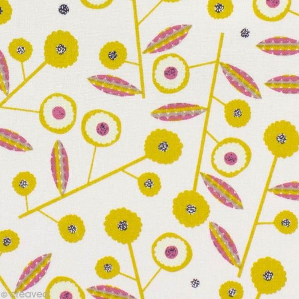 Tissu Bloom Ecru - Par 10 cm (sur mesure) - Photo n°1