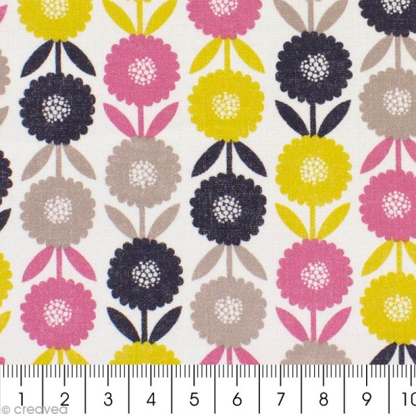 Tissu Bloom Flowers - Par 10 cm (sur mesure) - Photo n°2