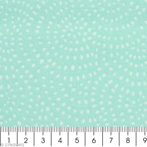 Tissu Twist Menthe - Par 10 cm (sur mesure) - Photo n°2