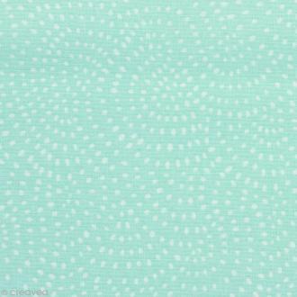 Tissu Twist Menthe - Par 10 cm (sur mesure)