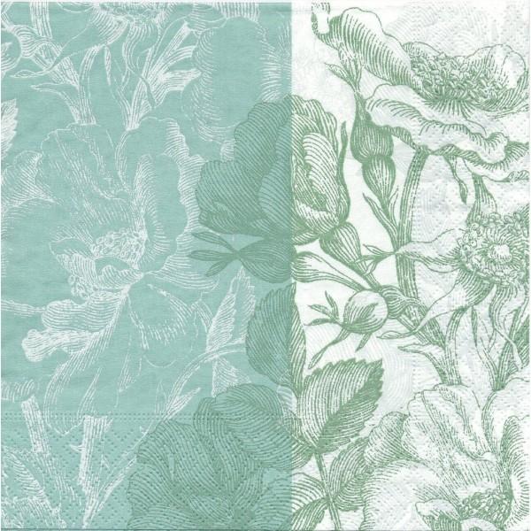 4 Serviettes en papier Roses Sauvages Format Lunch Decopatch 21568 Paper+Design - Photo n°1