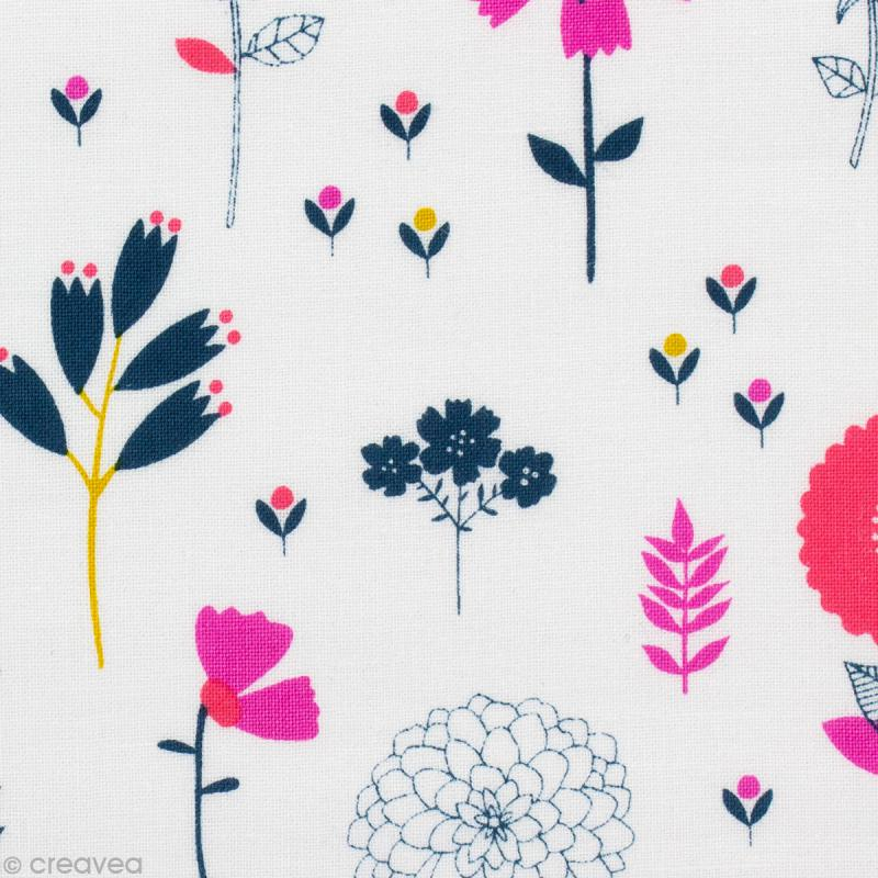 Cotton Candy Nail Polish La Carte: Tissu Cotton Candy Grandes Fleurs