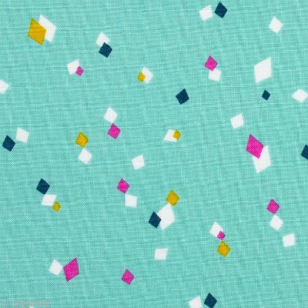Tissu Cotton Candy Bleu/Vert - Par 10 cm (sur mesure) - Photo n°1