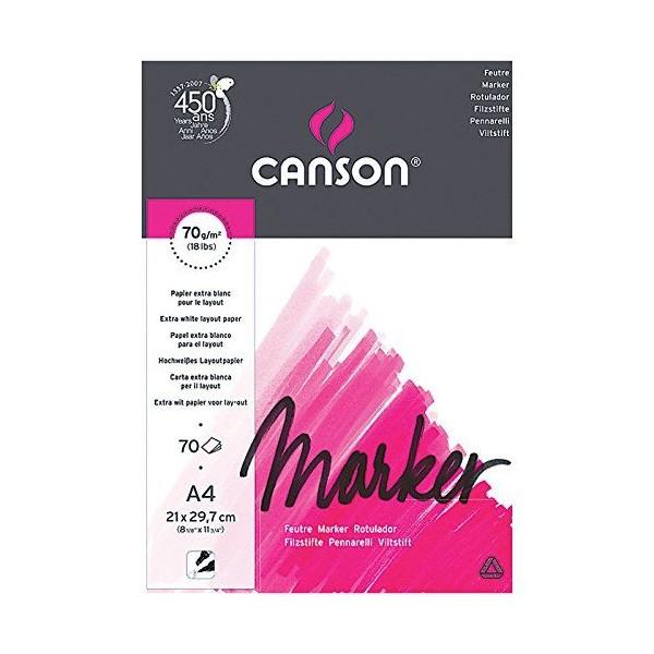 Canson Arts graphiques Marker layout Bloc Papier à dessin 70 feuilles 70g A4 21 x 29,7 cm - Photo n°2