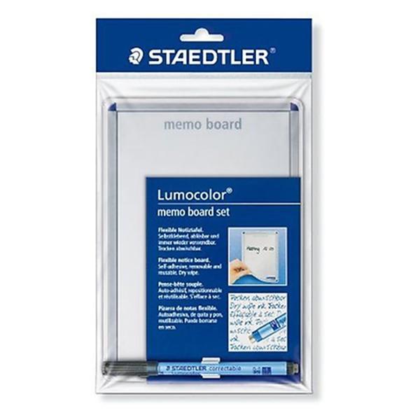 Staedtler 641 MB Pense-bête souple Lumocolor effaçable à sec avec feutre effaçable Lumocol - Photo n°1