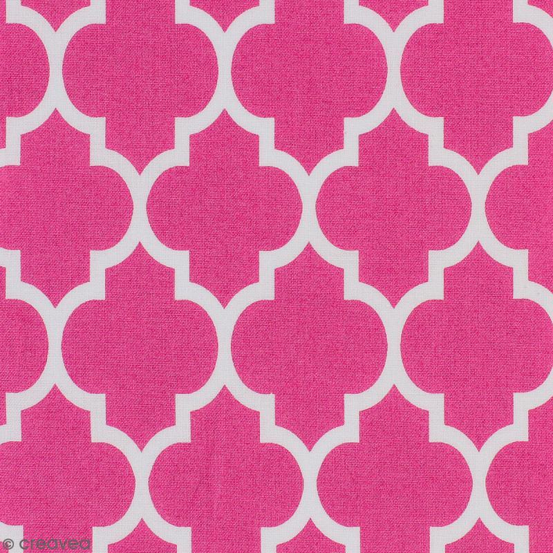 tissu portofino moucharabieh fond rose par 10 cm sur mesure tissu au m tre creavea. Black Bedroom Furniture Sets. Home Design Ideas
