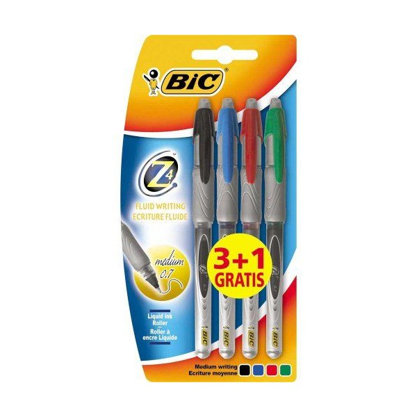 Bic - Z4 Classic - Roller encre liquide - Assortis - 31 Gratuit - Photo n°2